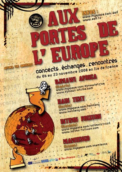 AUX PORTES DE L'EUROPE,Concerts,Expos,du 6 au 23 Nov Aff_APE